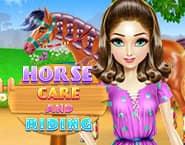 馬の世話と乗馬