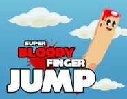 血だらけの指のスーパージャンプ