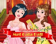 プリンセスたちのメットガラのダンスパーティ