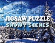 ジグソーパズル:雪のシーン