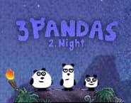 3頭のパンダ2:夜